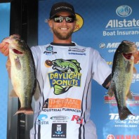 Caught some largemouths, too. 2015 Elite Series weigh-in.
