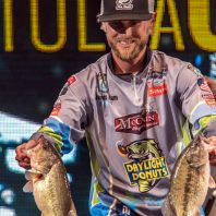 On the Bassmaster Classic weigh-in stage, BOK Center, Tulsa, OK, March 2016. Finished in 30th place.
