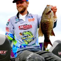Another nice smallie. This photo must be from the 2016 AOY at Mille Lacs!