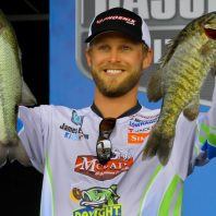 Day 2 weigh-in at Wheeler Lake, AL, 2016 Elite. Finished in 8th place.