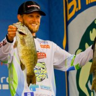Championship Sunday weigh-in at the 2016 AOY – Mille Lacs, MN. I finished the tournament in 5th place.